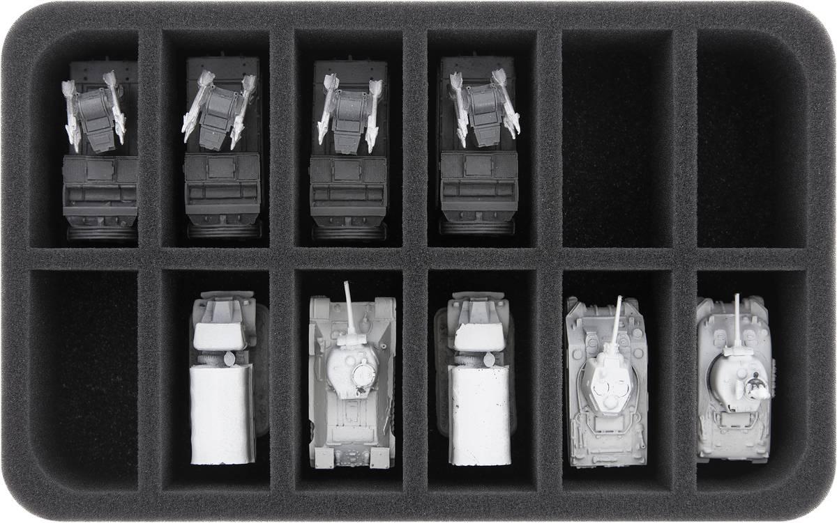 HS050A040 Feldherr foam tray for Flames of War - 12 compartments