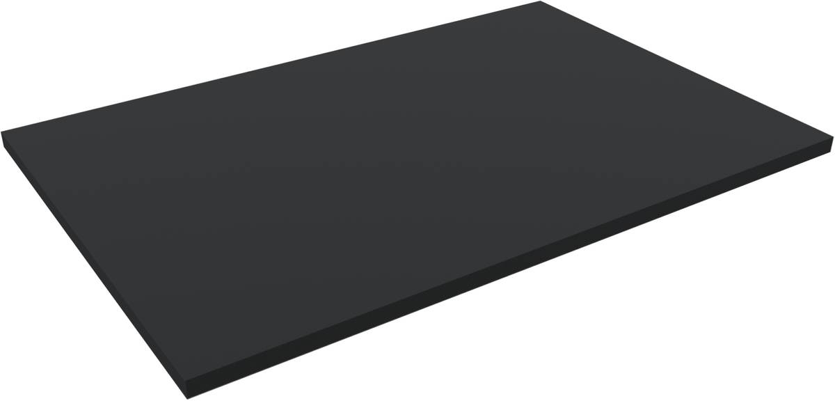 1200 mm x 800 mm x 30 mm PE-Schaumstoffzuschnitt / Hartschaumstoff-Zuschnitt - Grundfläche einer Europalette
