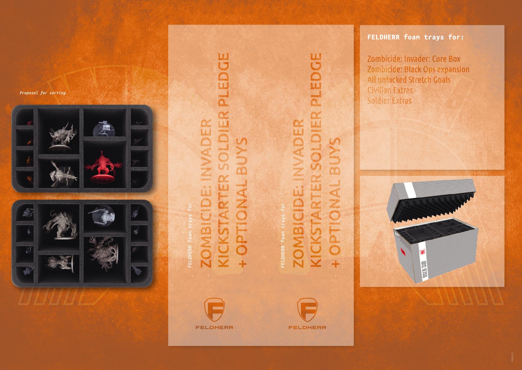 PP002577 - Flyer for Zombicide: Invader Kickstarter Soldier Pledge
