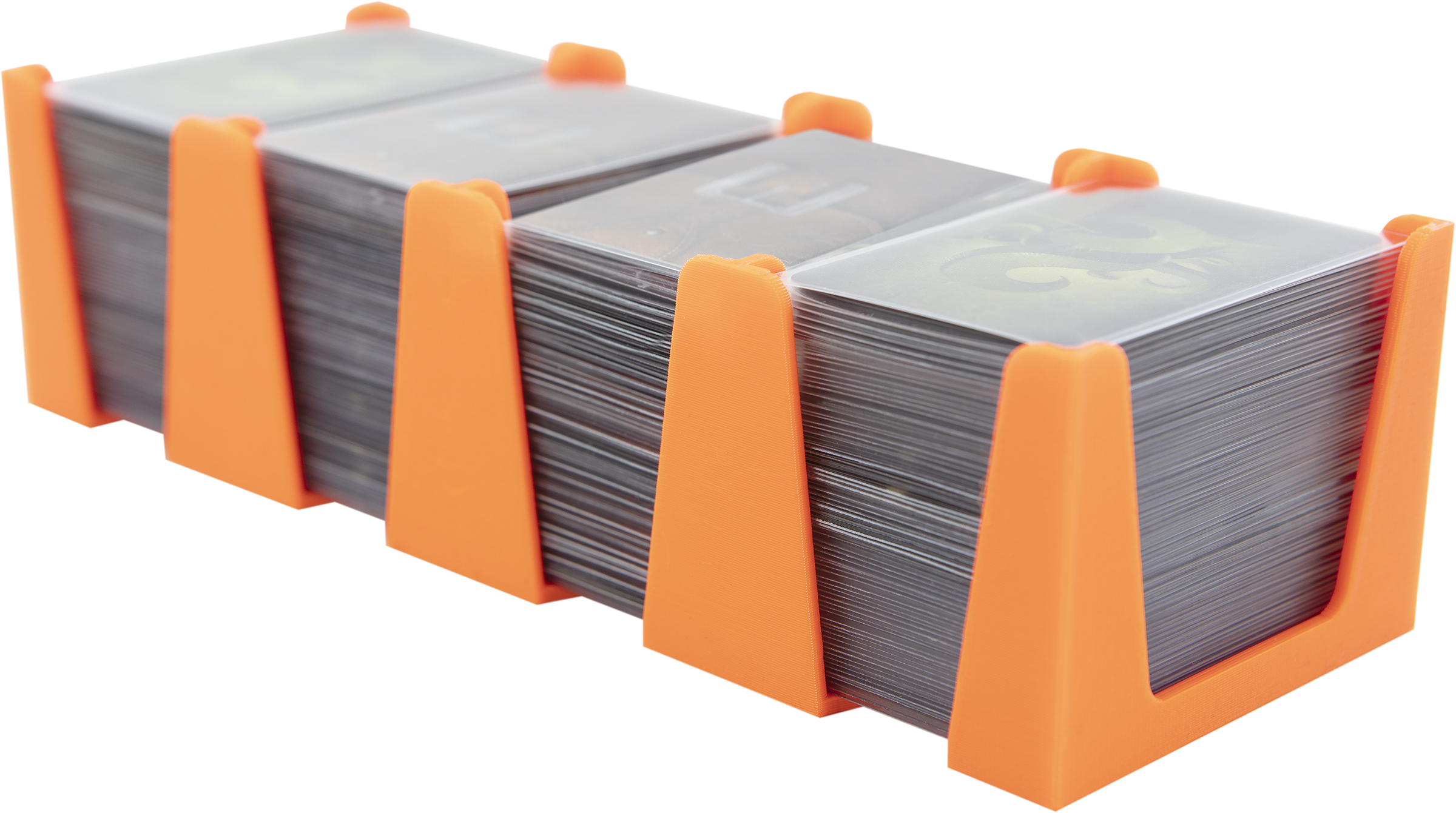 Feldherr Card Holder for game cards in Mini American Board Game Size - 600 cards - 4 trays