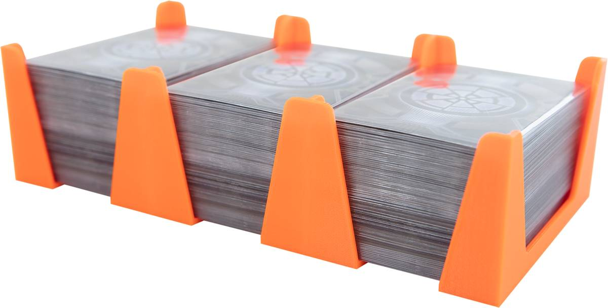 Feldherr Card Holder for game cards in Standard American Board Game Size - 450 cards - 3 trays