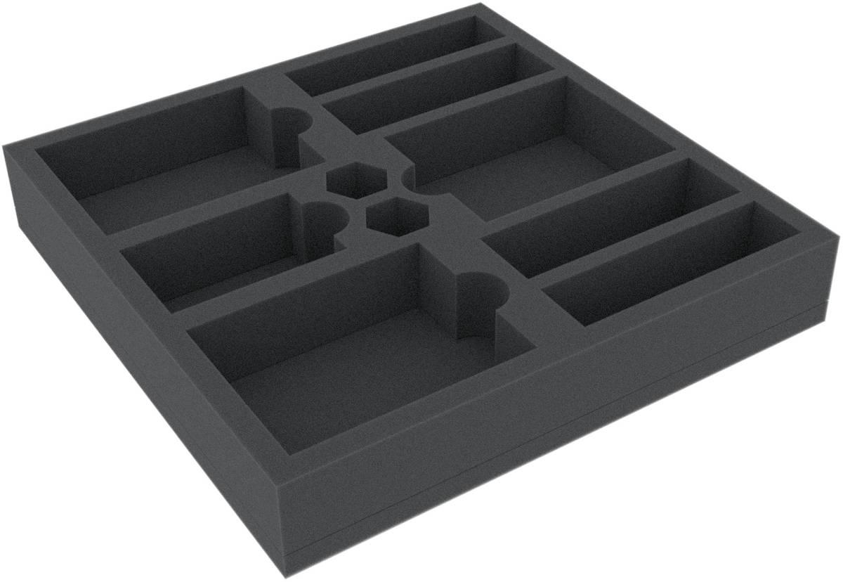 BCMEWZ040BO 238 mm x 238 mm x 40 mm Schaumstoffeinlage für Brettspiele mit 10 Fächern