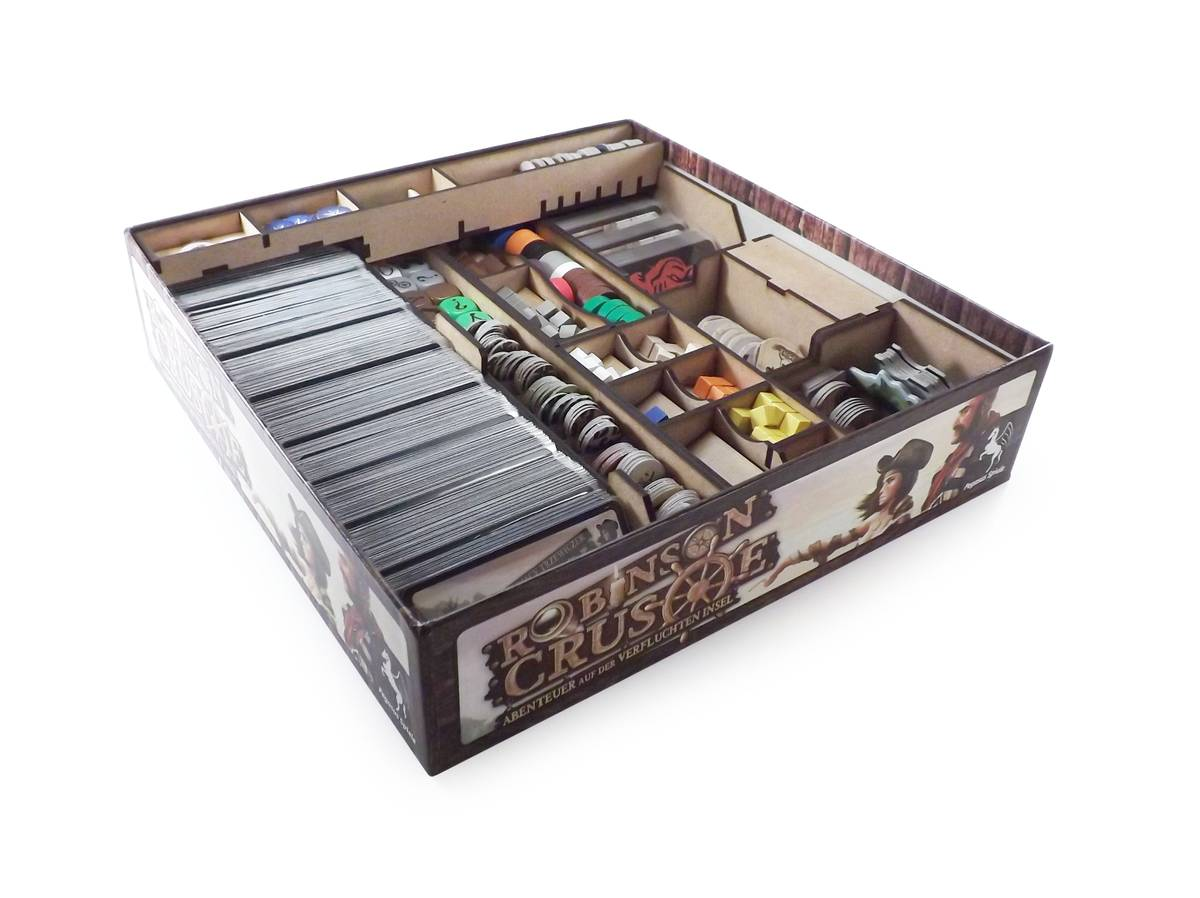 Boardgame Organizer for Robinson Crusoe and expansion Voyage of the Beagle