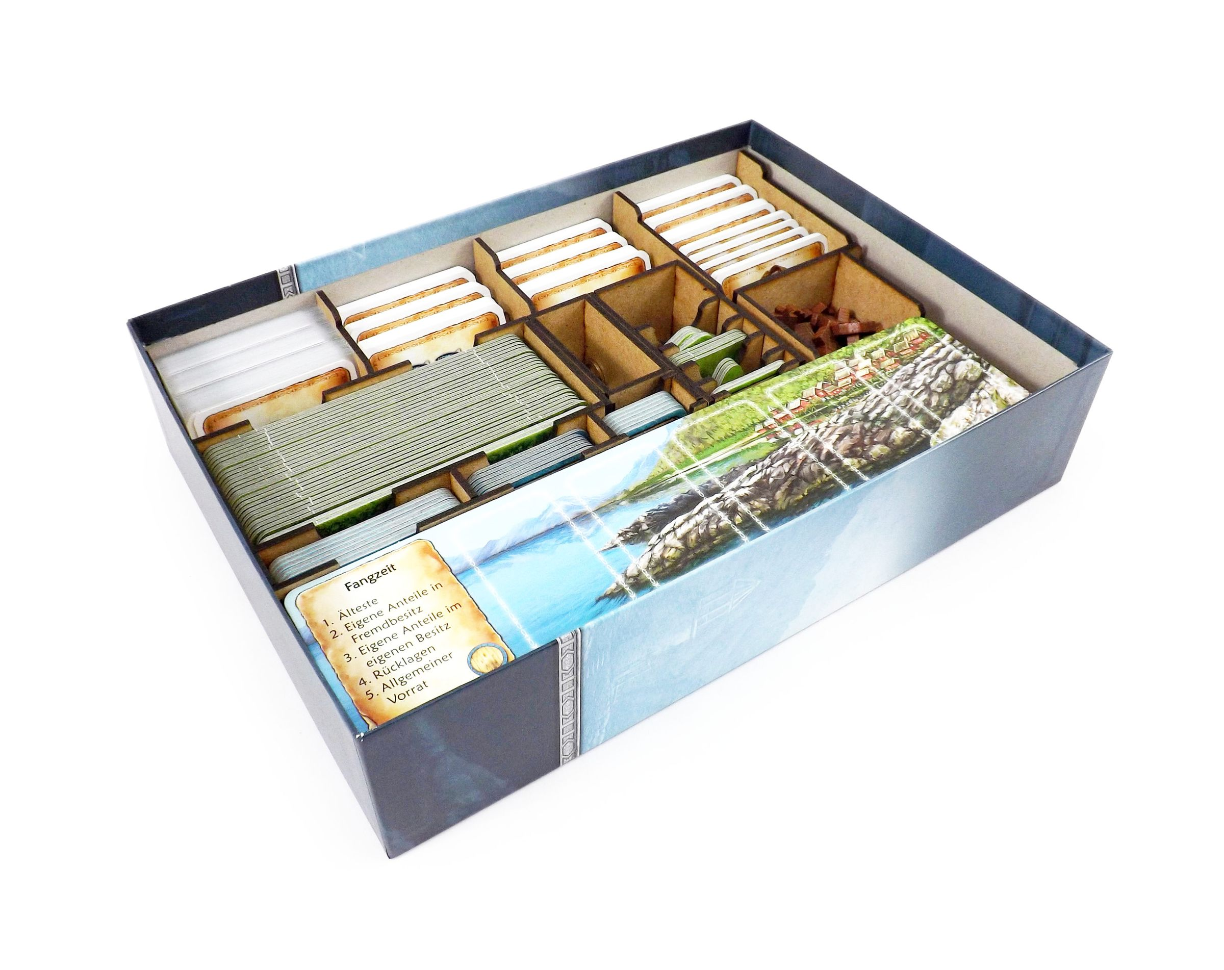 Boardgame Organizer for Nusfjord and expansion Plaice Deck
