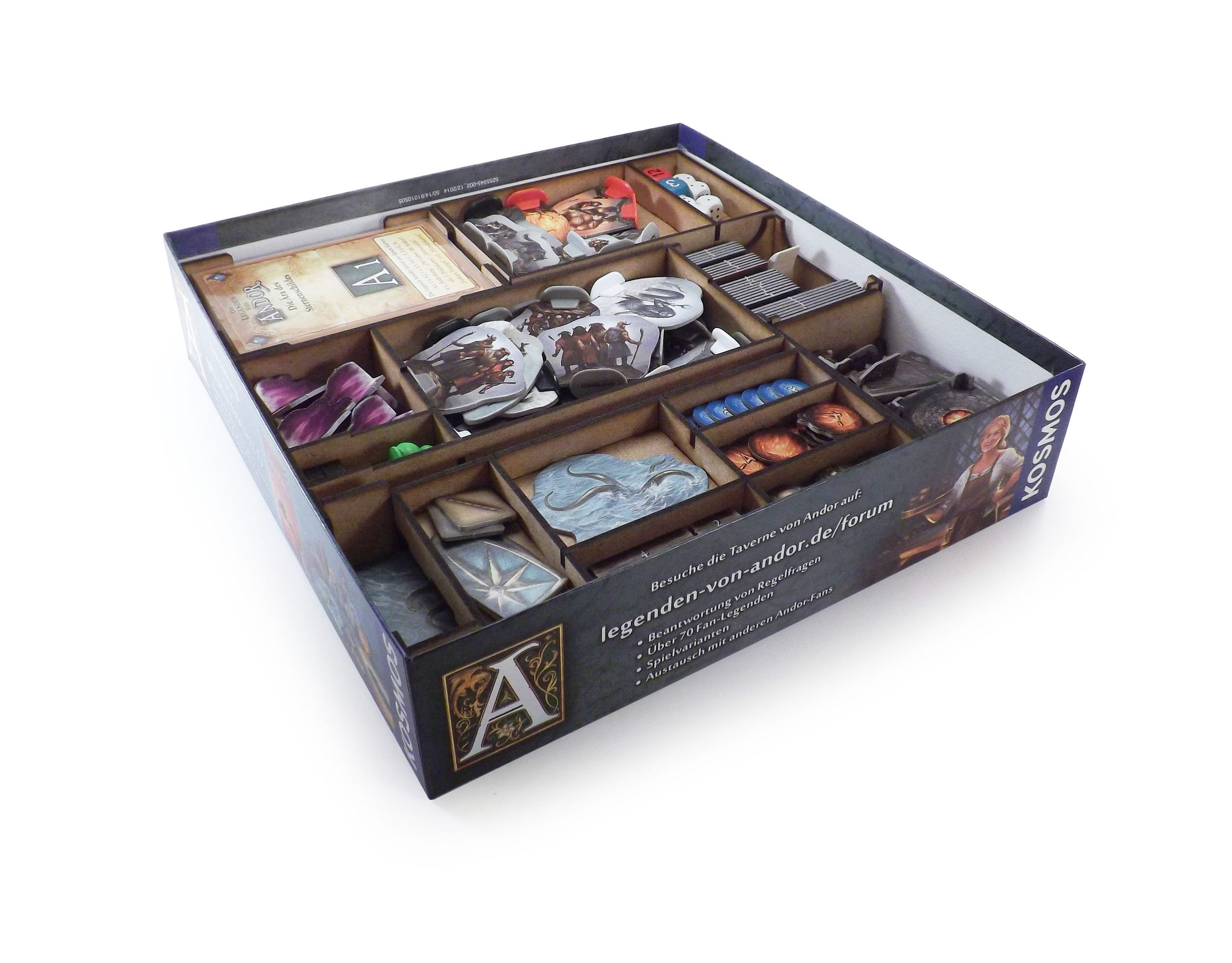 Boardgame Organizer for The Legends of Andor: The Journey North and the expansion The Star Shield