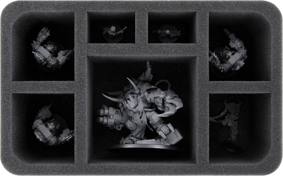 HS090A001 Schaumstoffeinlage für Orks: Ghazghkull Thraka + 6 Miniaturen
