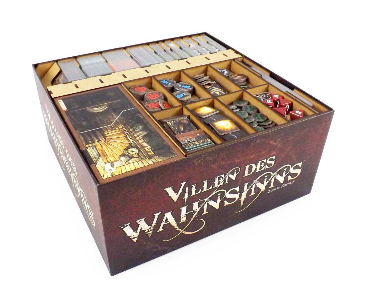 Brettspiel Organizer für Villen des Wahnsinns 2. Edition