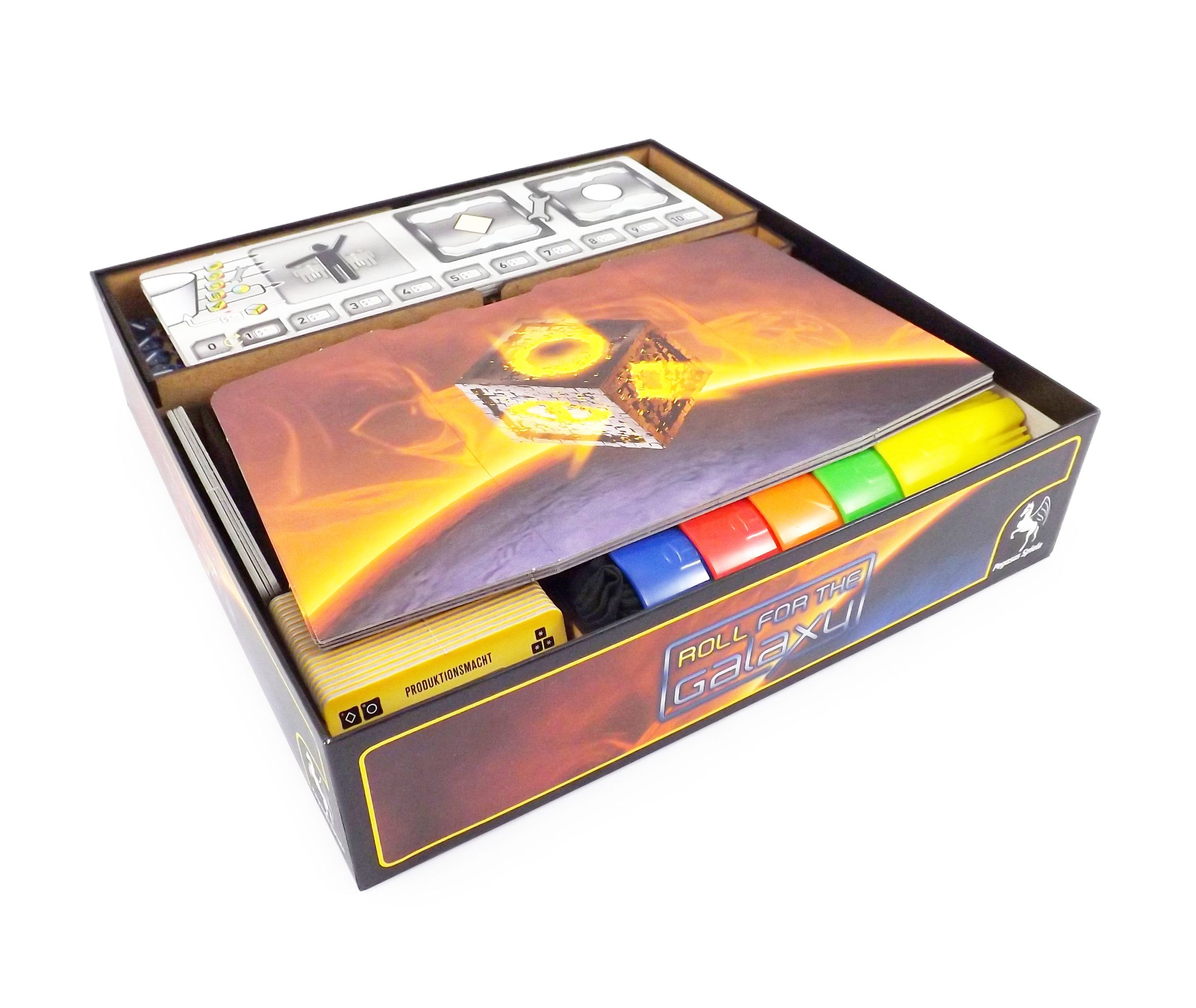 Boardgame Organizer for Roll for the Galaxy and expansion Ambition