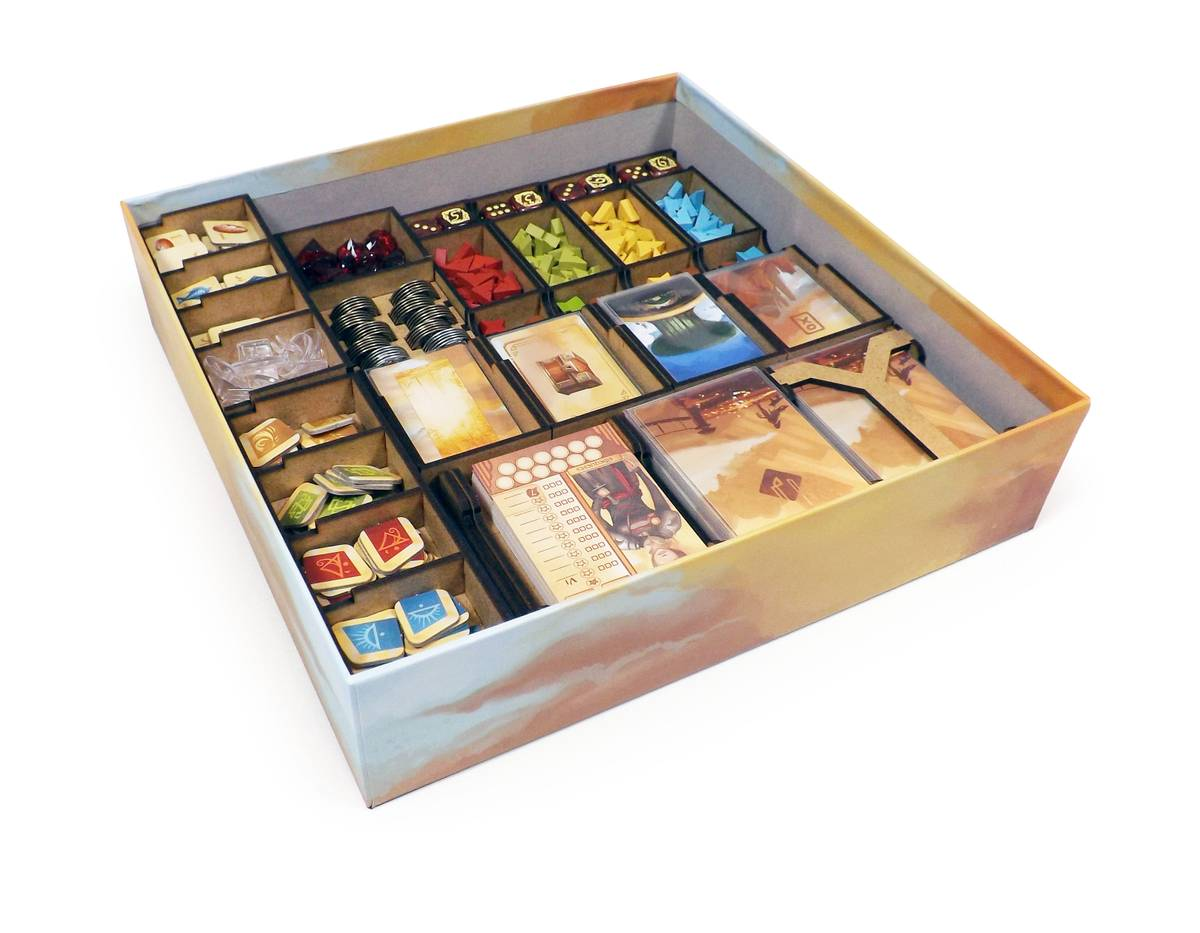 Boardgame Organizer for Near and Far and expansion Amber Mines