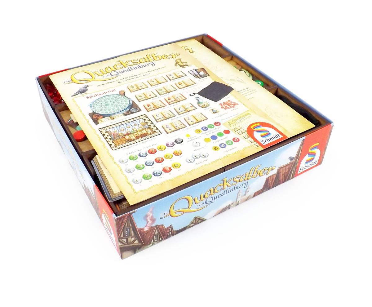 Brettspiel Organizer für Die Quacksalber von Quedlinburgund Erweiterung Die Kräuterhexen