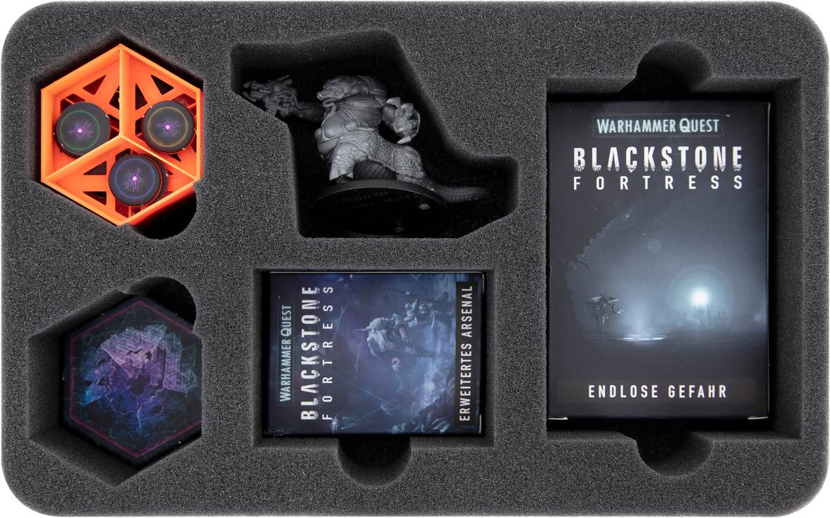Feldherr Schaumstoffeinlage + 3 Tokenhalter für Blackstone Fortress: Tödliches Bündnis