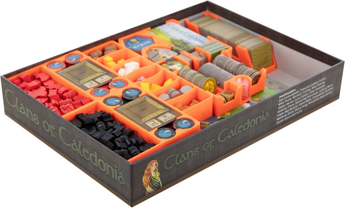 Feldherr Organizer for Clans of Caledonia - board game box