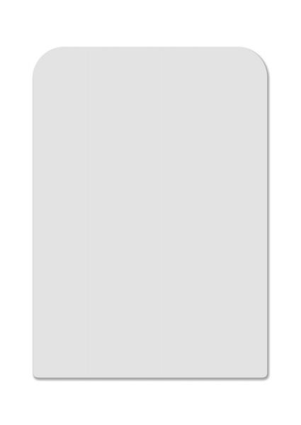 Card Divider white tall 70 mm x 110 mm
