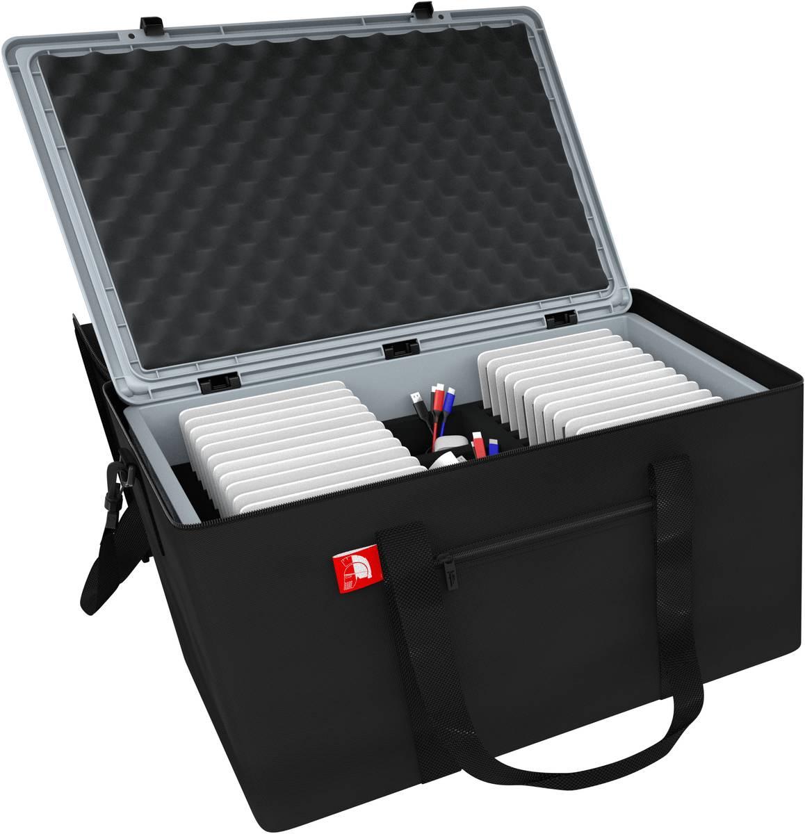 Tasche mit Box für 24 Tablets - kompatibel mit Apple iPad, Samsung und Microsoft Surface Go
