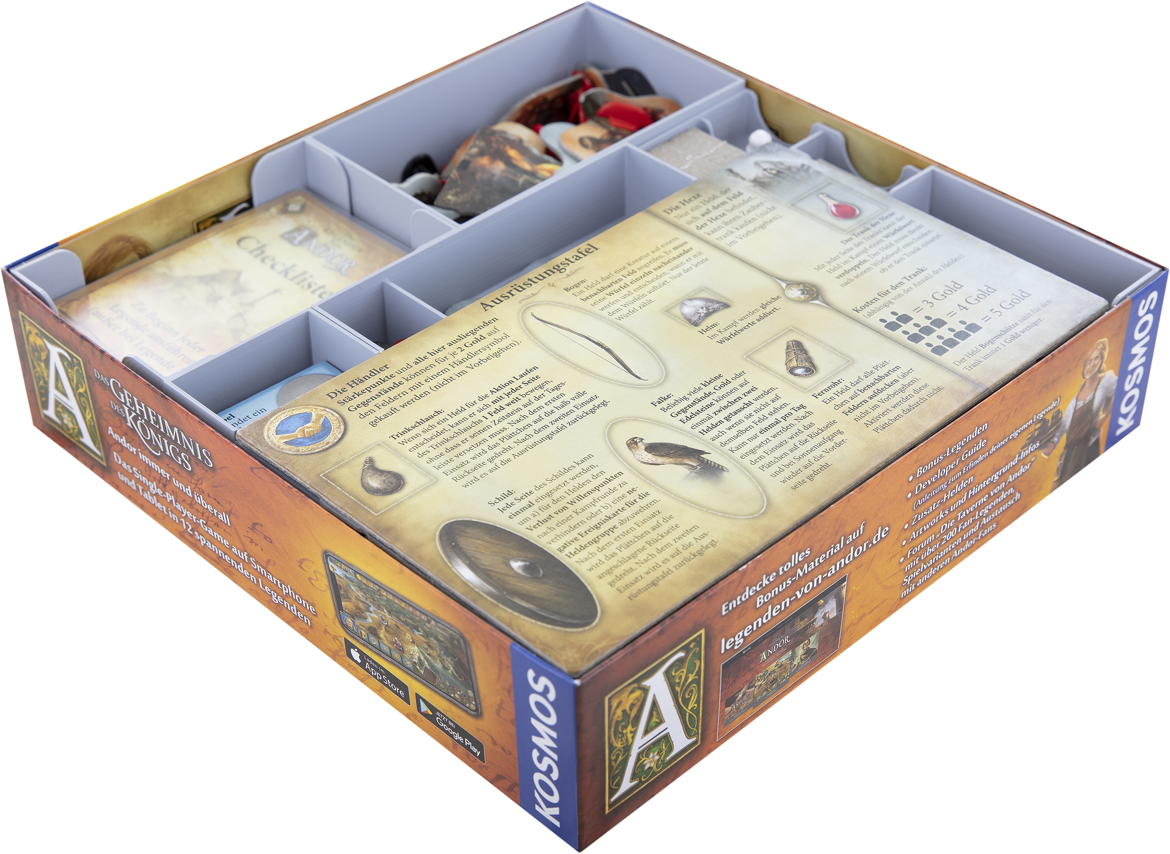 Feldherr Organizer for The Legends of Andor and its expansion New Heroes