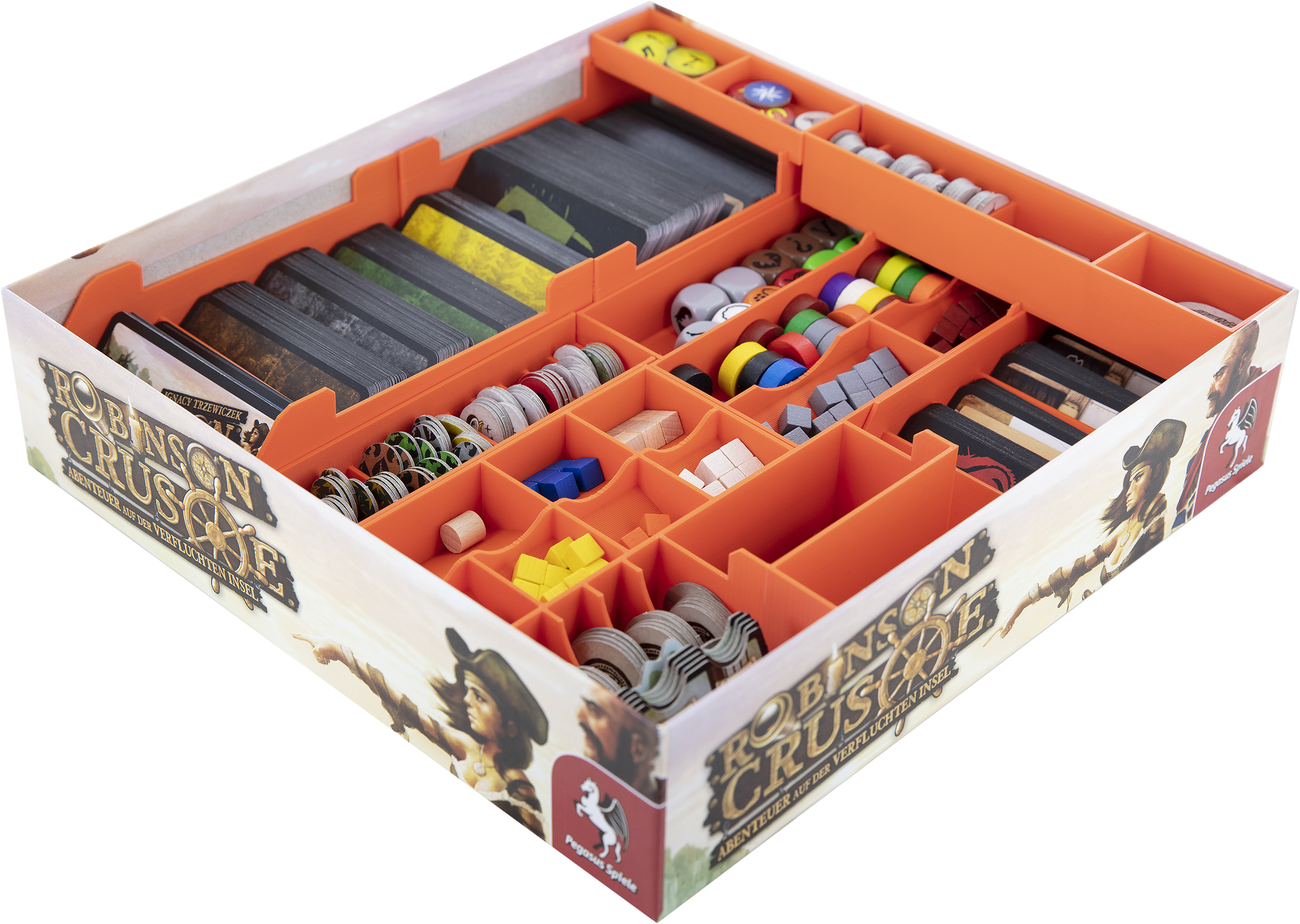 Feldherr Organizer for Robinson Crusoe and expansion Voyage of the Beagle