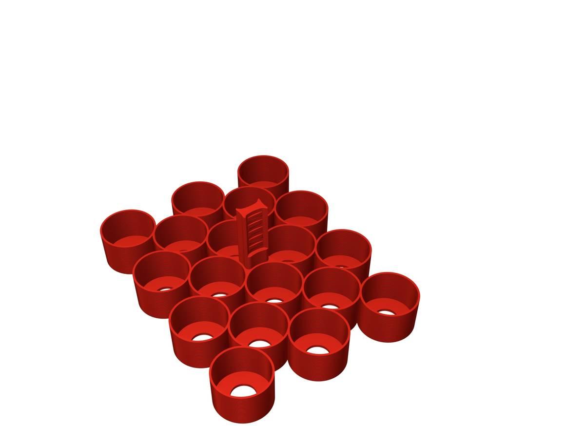 Feldherr Farbhalter für Citadel Farbtöpfchen (18 ml und 24 ml) - 18 Fächer