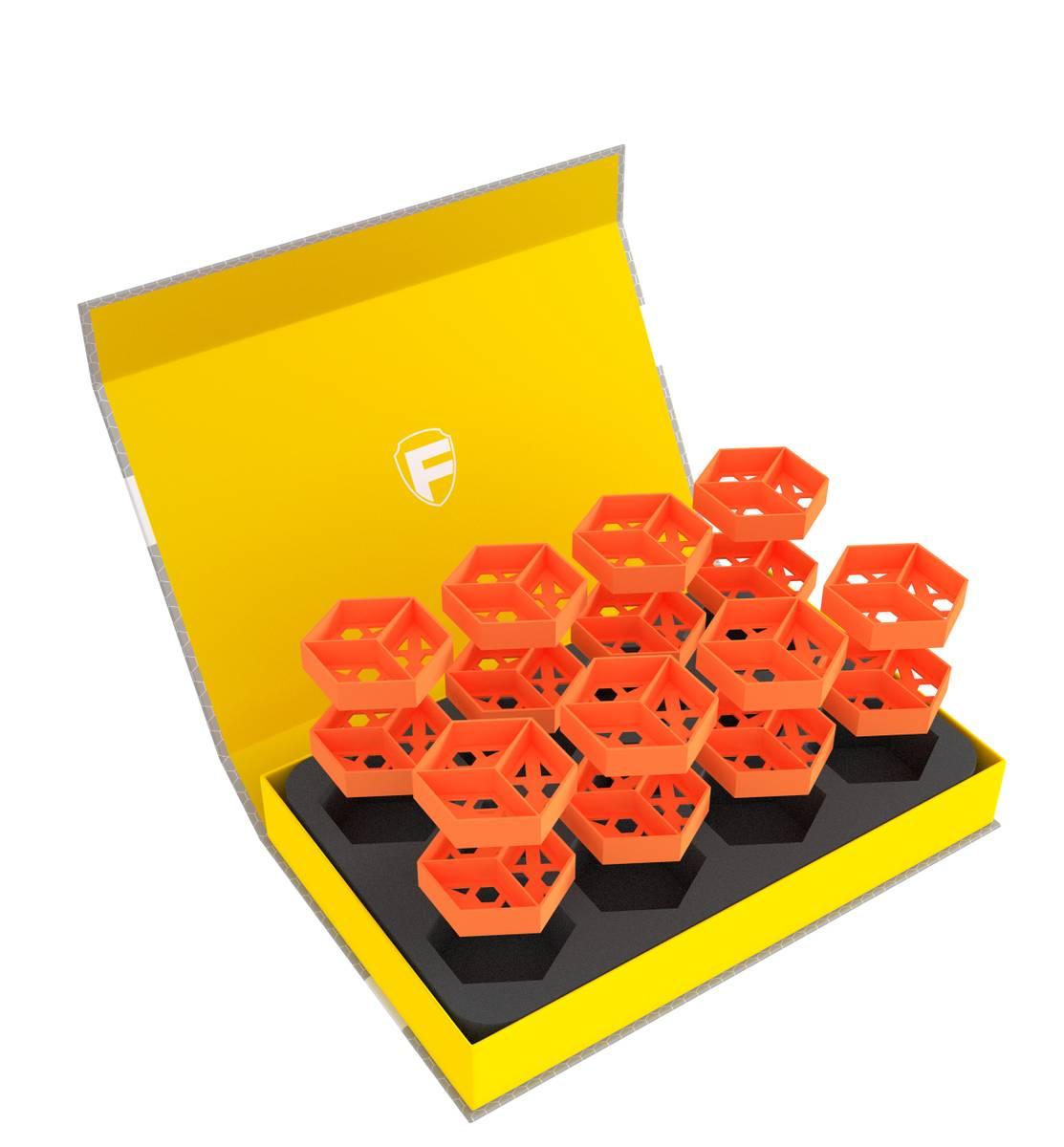 Feldherr Magnetic Box amarillo para fichas y material de juego pequeño