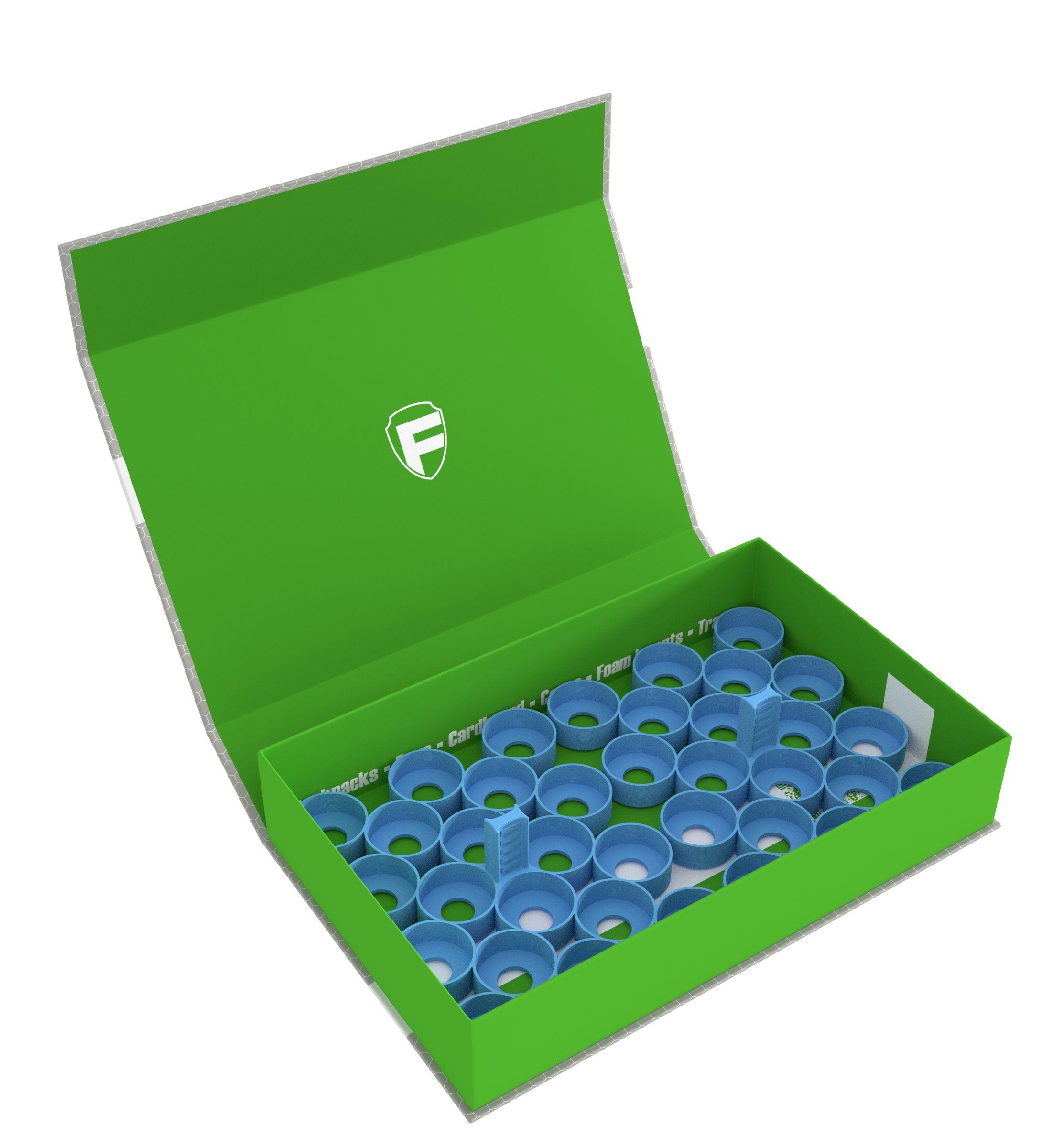 Feldherr Magnetic Box green for 36 Citadel paint pots (12 ml)
