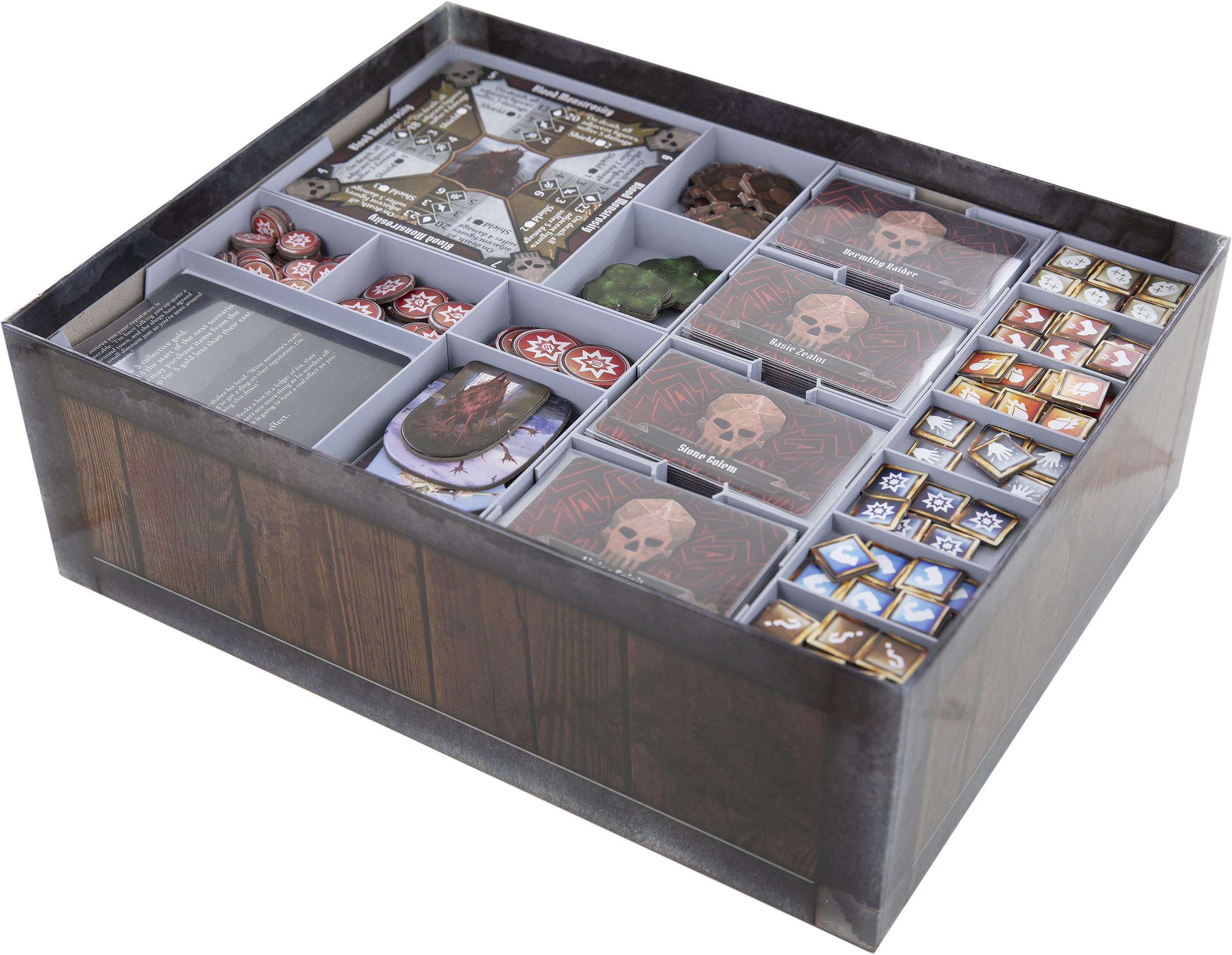 Feldherr Organizer + foam tray for Gloomhaven: Jaws of the Lion - board game box