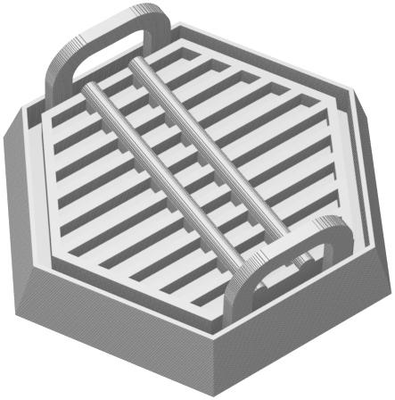 Feldherr Hexagonal Base aus Kunststoff für Brettspiele / Tabletops - 35 mm x 30 mm x 14 mm