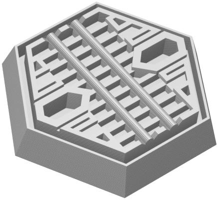 Feldherr Hexagonal Base aus Kunststoff für Brettspiele / Tabletop - 35 mm x 30 mm x 6 mm