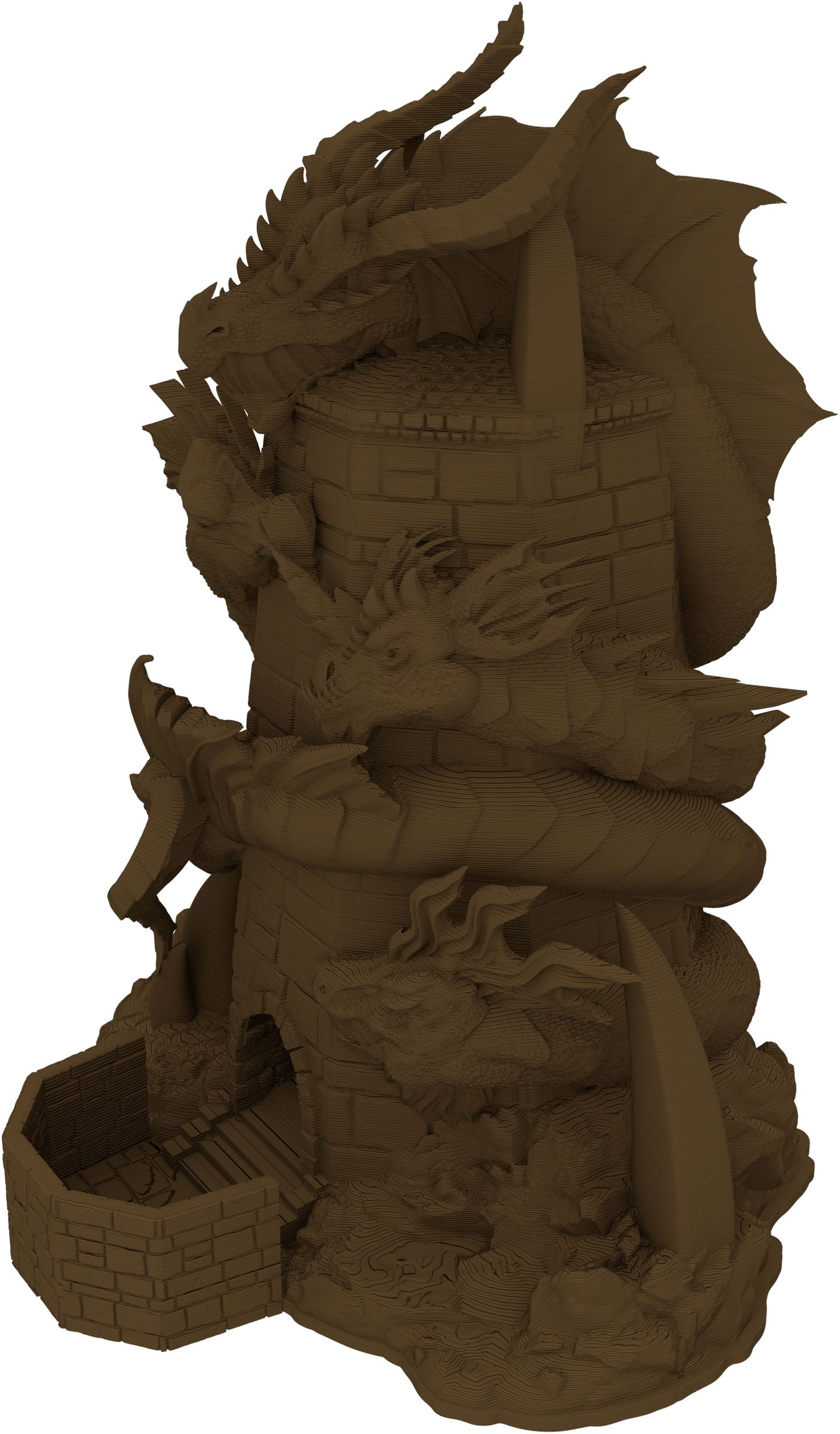 Fates End Dice Tower: Tiamat