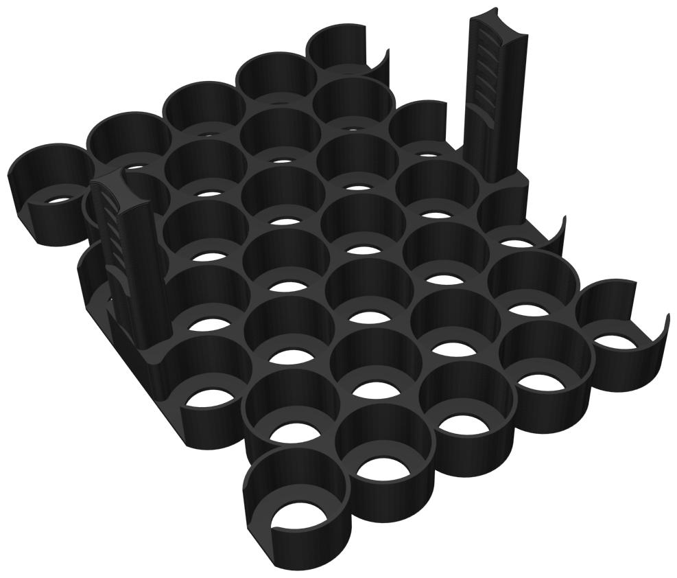 Feldherr Paint Rack for color bottles - 32 compartments