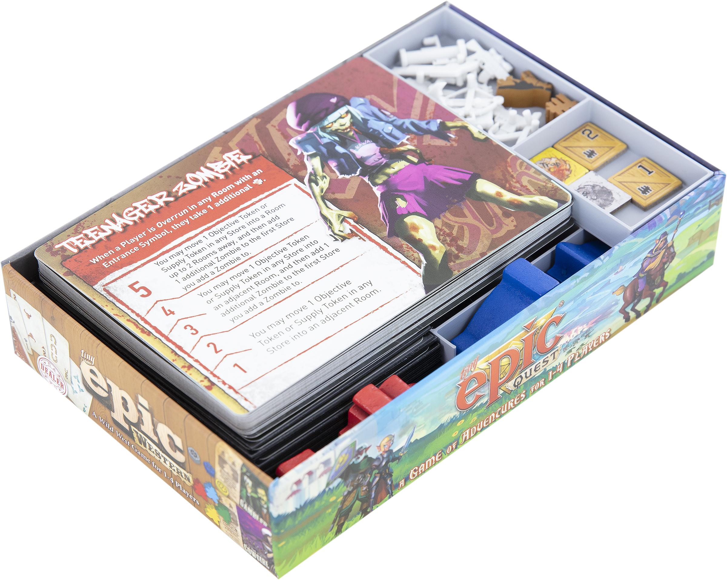 Feldherr Organizer for Tiny Epic Zombies - board game box