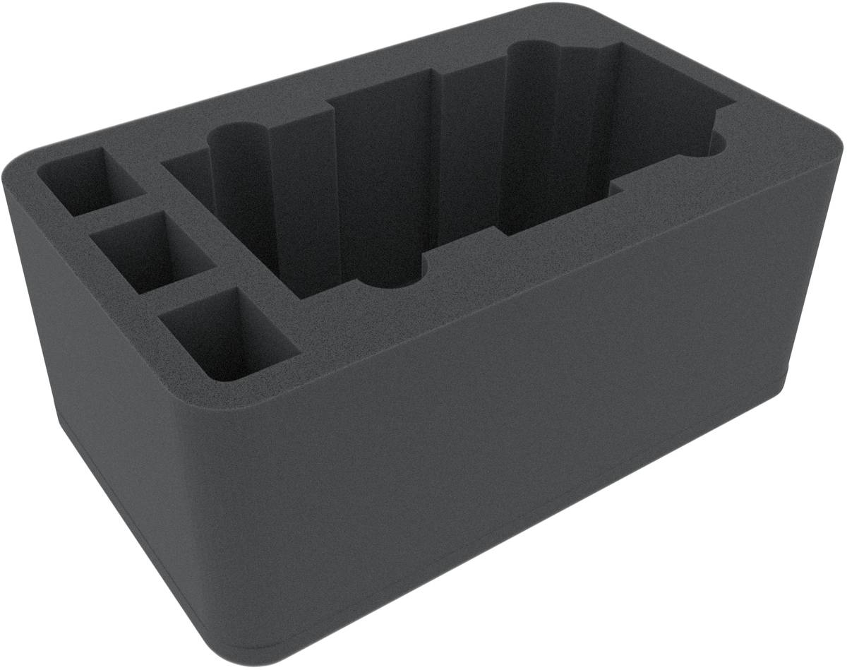 HSMFDL115BO 115 mm Half-Size foam tray with 4 compartments