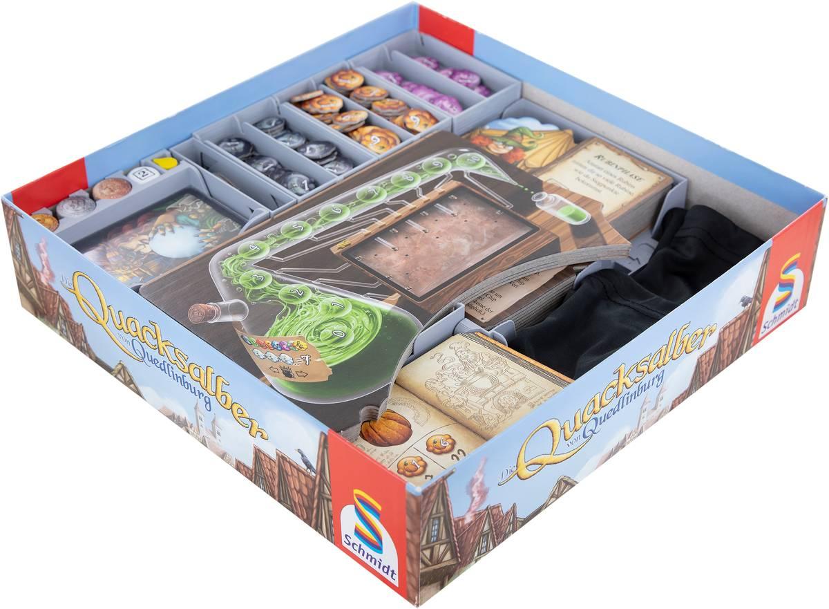 Feldherr Organizer Set for The Quacks of Quedlinburg + The Herb Witches + The Alchemists - core game box