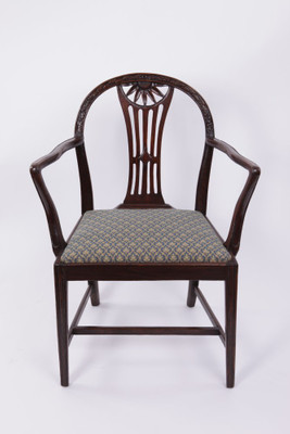 Carrver Chair, Oak, George III, England ca. 1800-10 – Bild 1