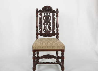 Carved Hall Chair, Oak, Victorian, England ca. 1880 – Bild 1
