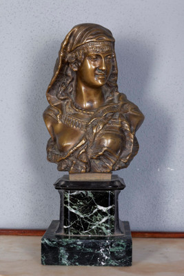 "Bronze Bust of a ""Oriental Lady"""
