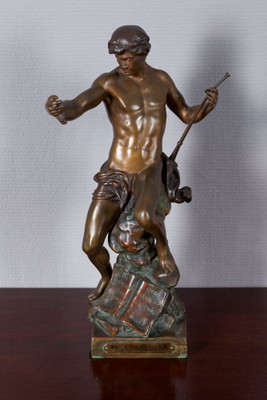 "Bronze Figgure ""SEMEUR D'IDEES"" from E. Picault"