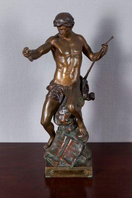 """Bronze Figgure """"SEMEUR D'IDEES"""" from E. Picault – Bild 1"""