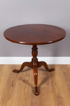 "Round ""Tripod Table"", Mahogany 001"