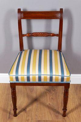 Paar Stühle aus Mahagoni, Regency