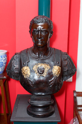 Bronze Bust of the romam emperor Julius Caesar
