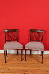 Set of 4 Mahogany Chairs, Edwardian 001