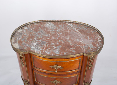 Chest of Drawer´s in the Louis XV-Style, Rosewood with Brass gallerie, France 2nd. Half oft he 19th. Century – Bild 3