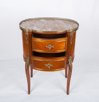 Chest of Drawer´s in the Louis XV-Style, Rosewood with Brass gallerie, France 2nd. Half oft he 19th. Century – Bild 4