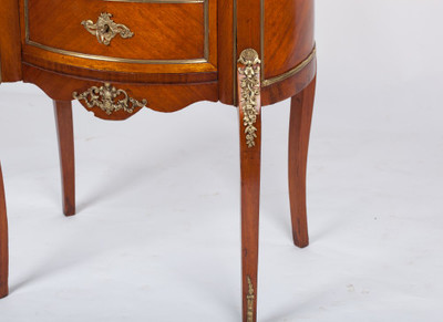 Chest of Drawer´s in the Louis XV-Style, Rosewood with Brass gallerie, France 2nd. Half oft he 19th. Century – Bild 10