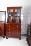 "Aufsatzschreibschrank, sog.     ""Secretaire Bookcase"", Mahogany, George III 001"