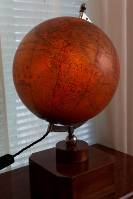 Illuminated Art Deco Globe – Bild 4