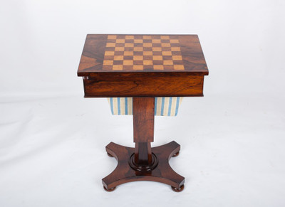 A very rare Work- and Chess-Table, Rosewood, William IV, England ca. 1830´s – Bild 5