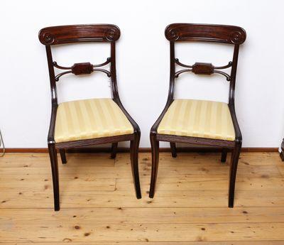 Pair of Sidechairs, Mahogany, George IV