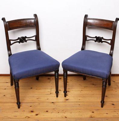 Set of  6 Regency Chairs, Mahogany