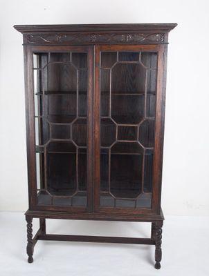A rare Display-Cabinet, Oak, Victorian, England ca.1890`s; – Bild 1