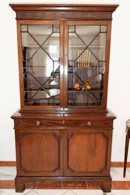 Two Door Bookcase, Mahogany, Georgian